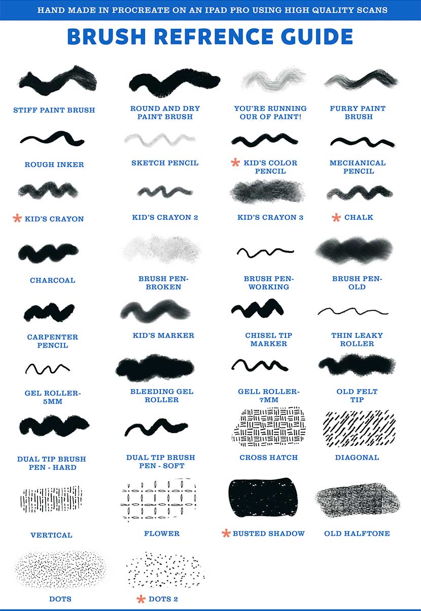 Free Brush Pack Reference