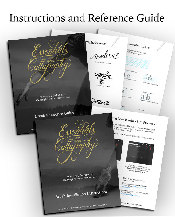 Essentials for Calligraphy – Brushes for Procreate