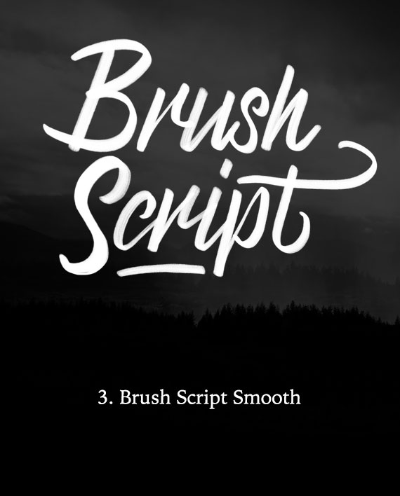 Brush Script Calligraphy Brush for Procreate