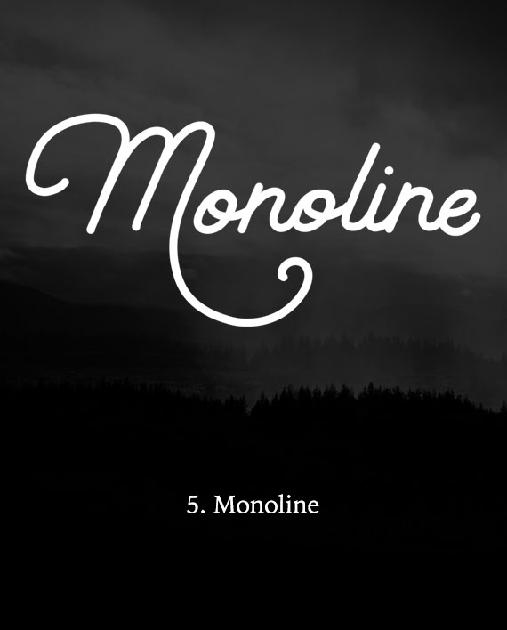 Monoline Lettering Brush for Procreate