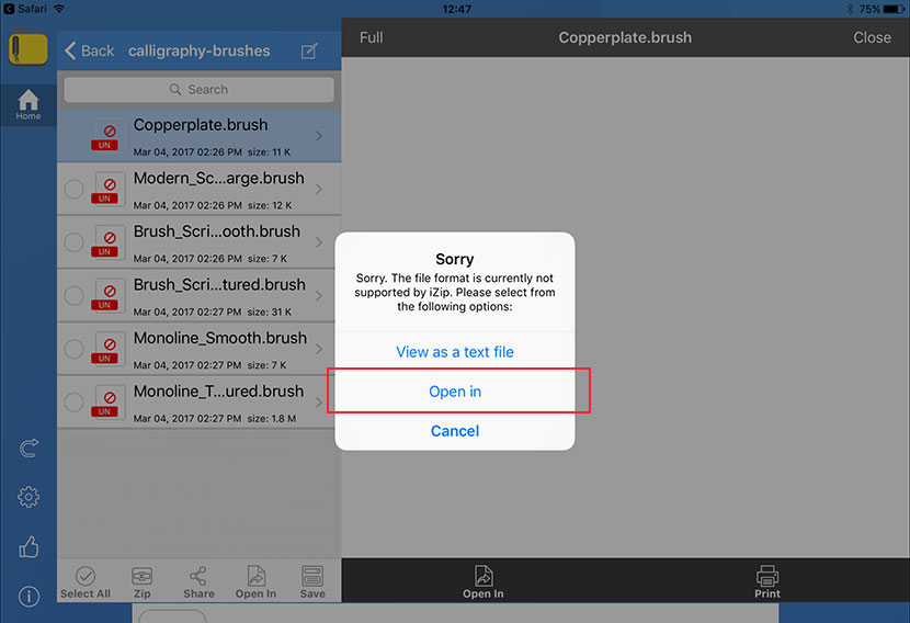 How to open zip files on your iPad