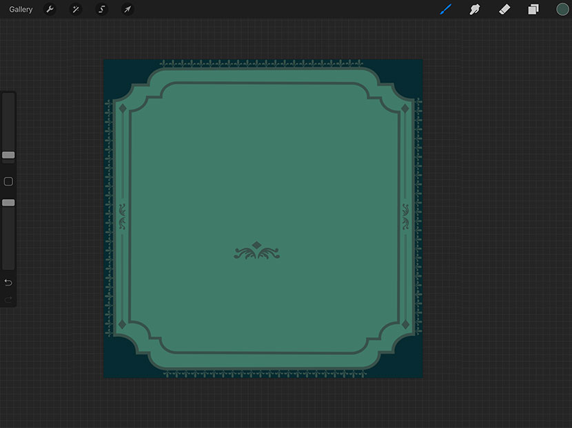 Procreate Tutorial : Create Beautiful Frames with Stamp Brushes