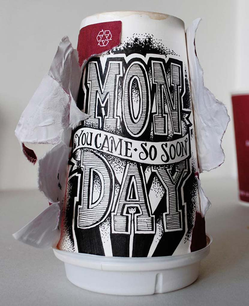 Coffee Cup Lettering by Rob Draper