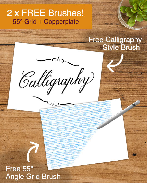learn copperplate calligraphy on the ipad with procreate ipad