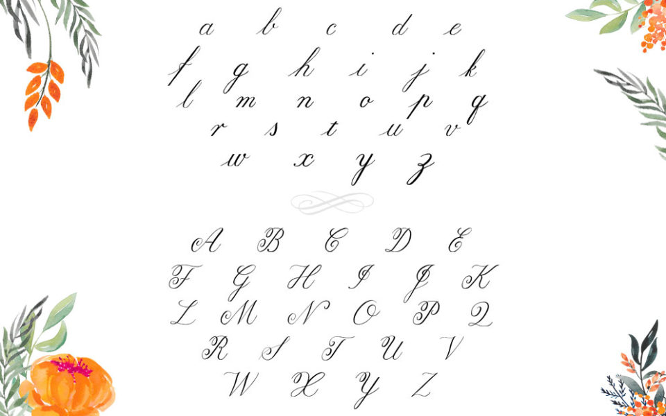 Copperplate Alphabet
