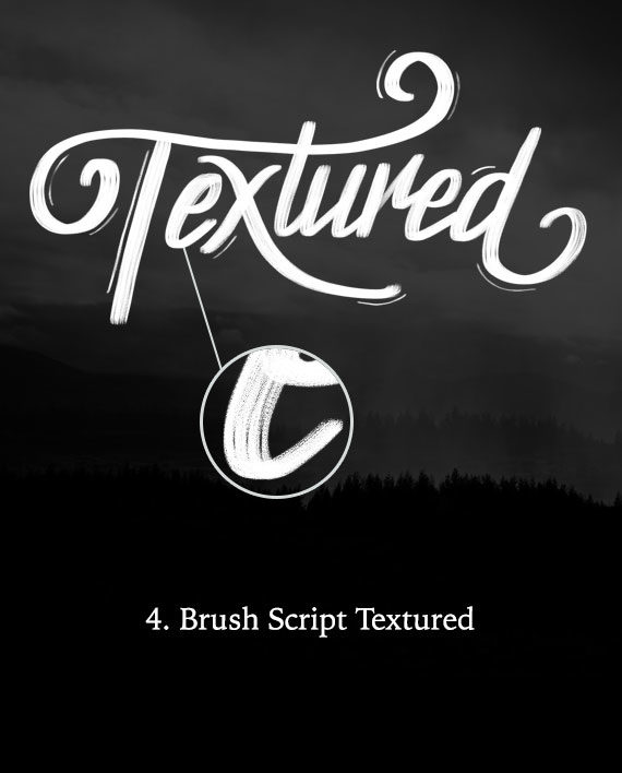 Textured Brush Script Calligraphy Brush for Procreate