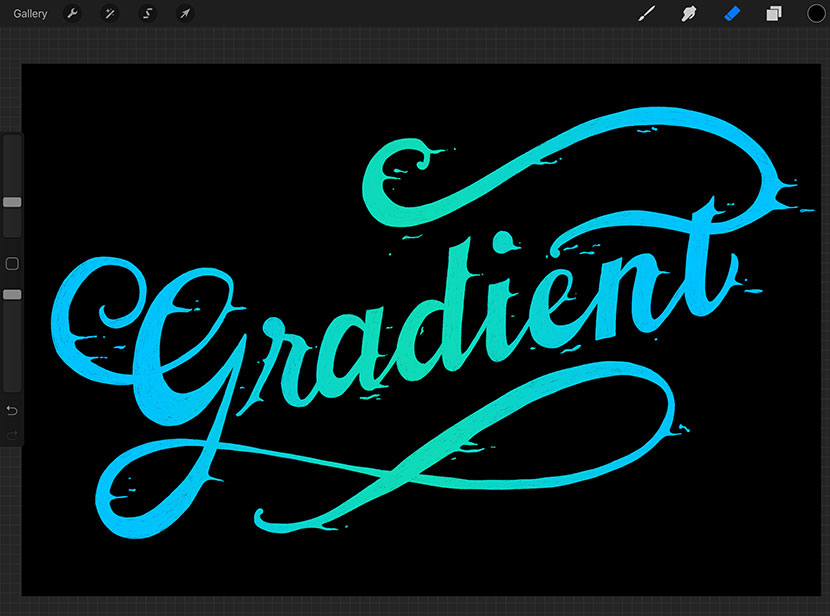 Gradient Lettering Tutorial with Free Procreate Brushes
