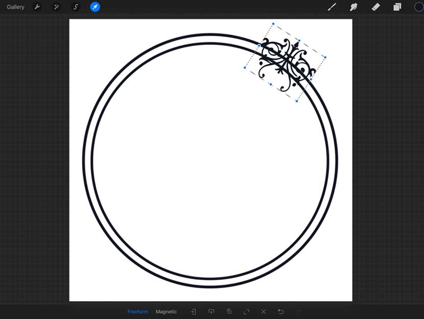 Motif Frame Brush for Procreate
