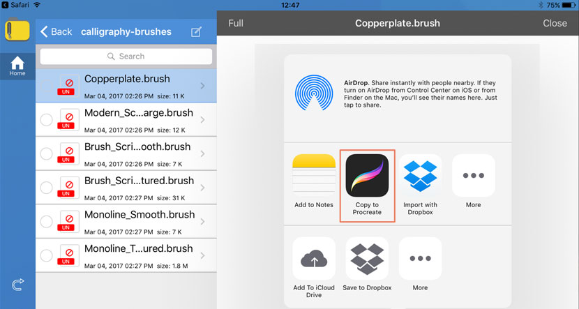 How to install brushes into Procreate 4