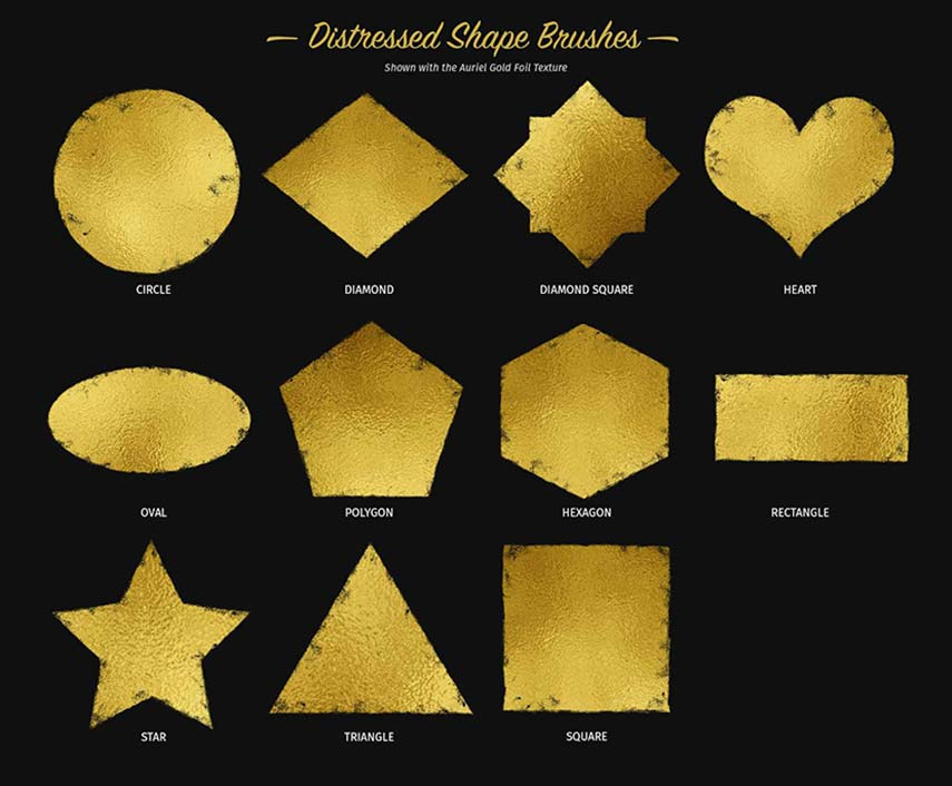 Glitter and Foil Kit for Procreate - Shape Brushes
