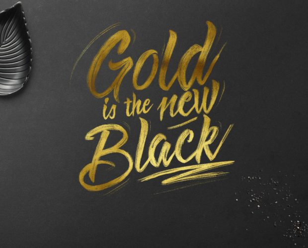 Create Gold Foil Lettering in Procreate - Free Texture