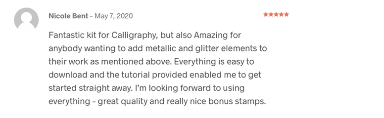 iPad Calligraphy Glitter and Foil Review