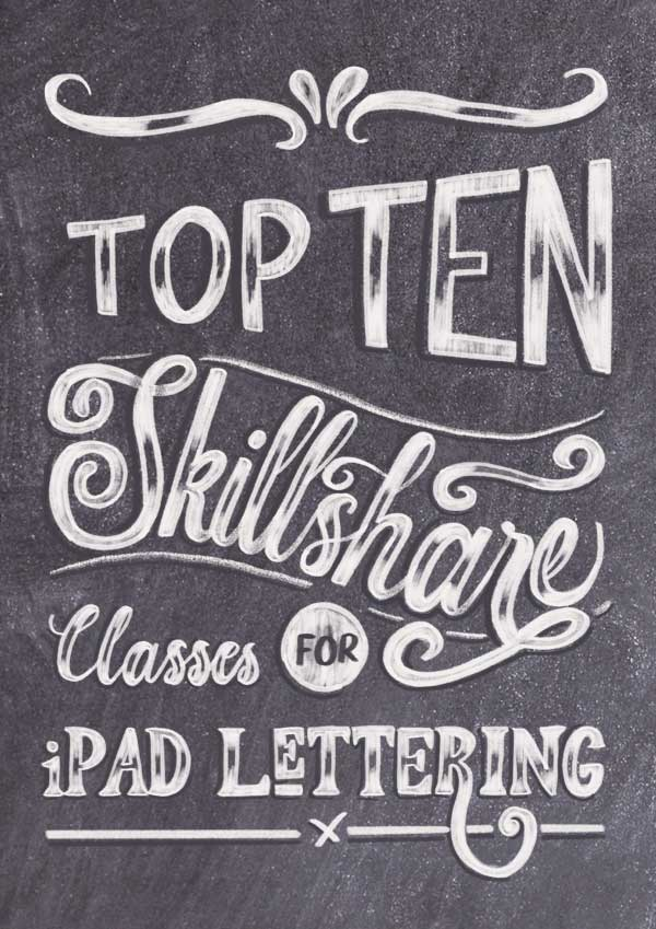 Top 10 Skillshare Class for iPad Lettering Artists