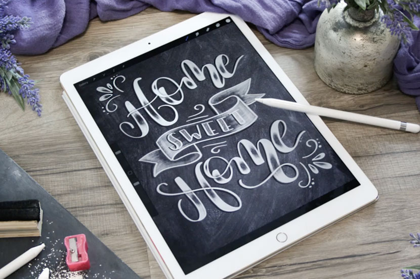 Top 10 Skillshare classes for iPad Lettering Artists - Chalk Lettering with Procreate - Ruth Lange