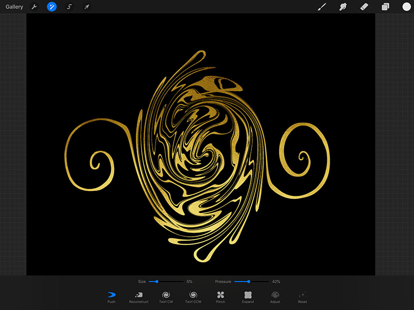 Procreate 4.1 - New Features - Liquify Effect