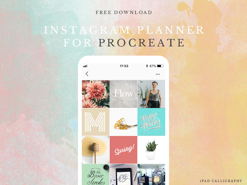 Instagram Feed Planner for Procreate