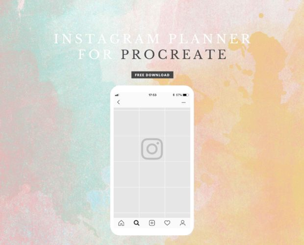 Free Instagram Feed Planner for Procreate