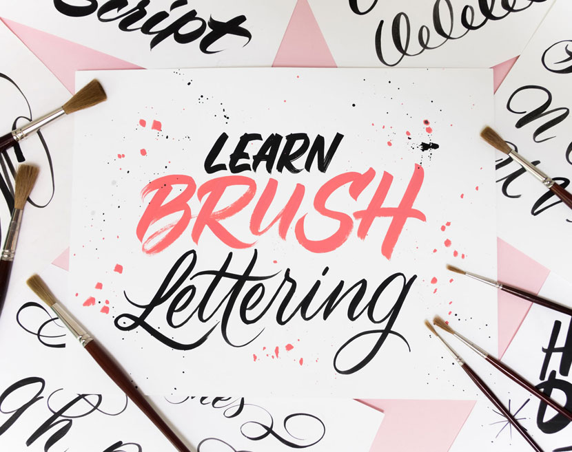 Learn Brush Lettering - Barbara Enright and Carla Hackett