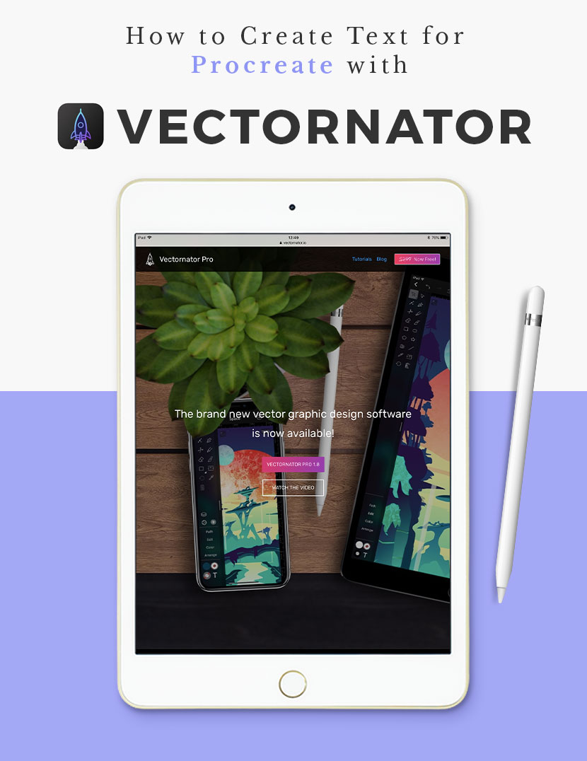 How to Create Text for Procreate with Vectornator