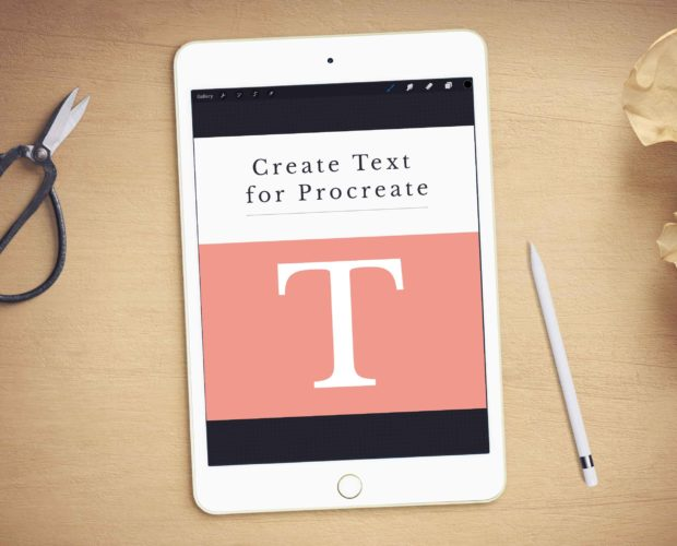 Create Text in Procreate