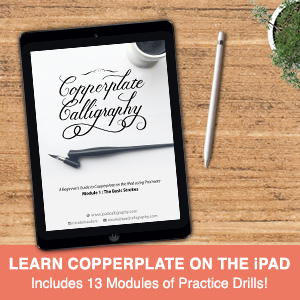 Learn Copperplate Calligraphy on the iPad