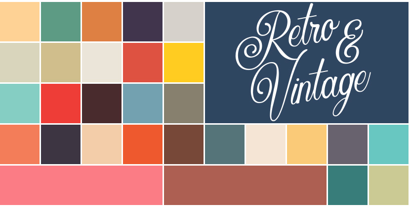 Free Procreate Color Palette - Retro and Vintage
