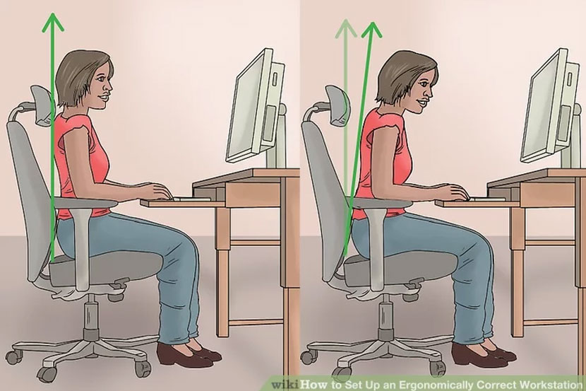 Wiki How - Ergonomic Workspace - chair posture
