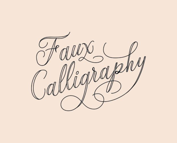 How to create faux calligraphy on the iPad in Procreate