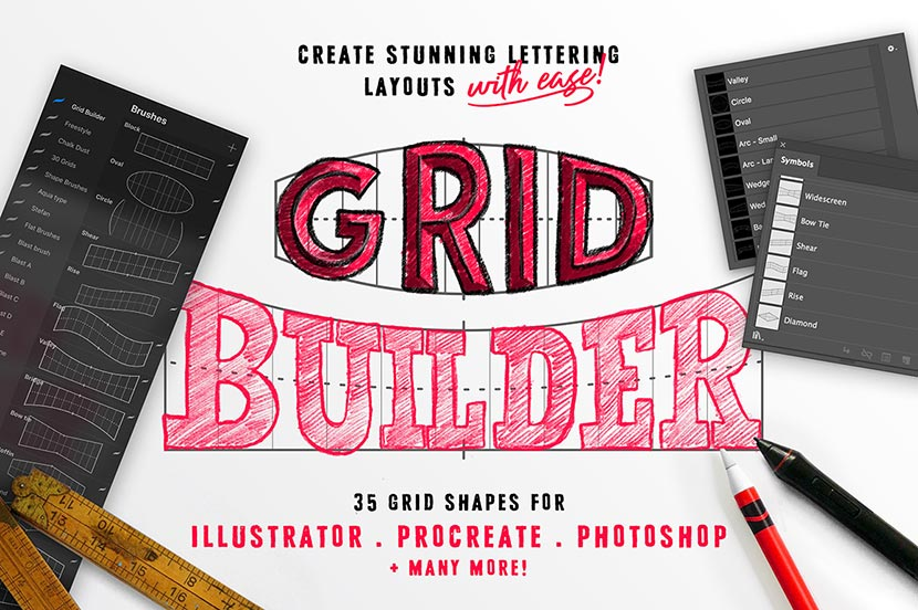 How to use the Grid Builder Layout Brushes - Procreate