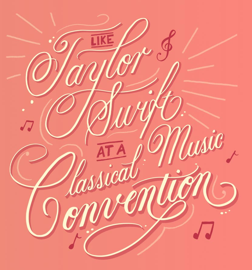 Taylor Swift at a classical music convention