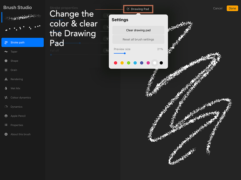 How to combine brushes in Procreate 5