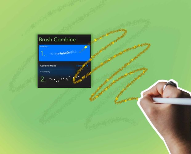 How to combine 2 brushes in Procreate 5