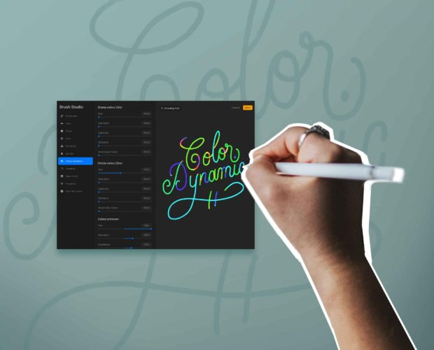 How to create a color dynamic brush in Procreate 5