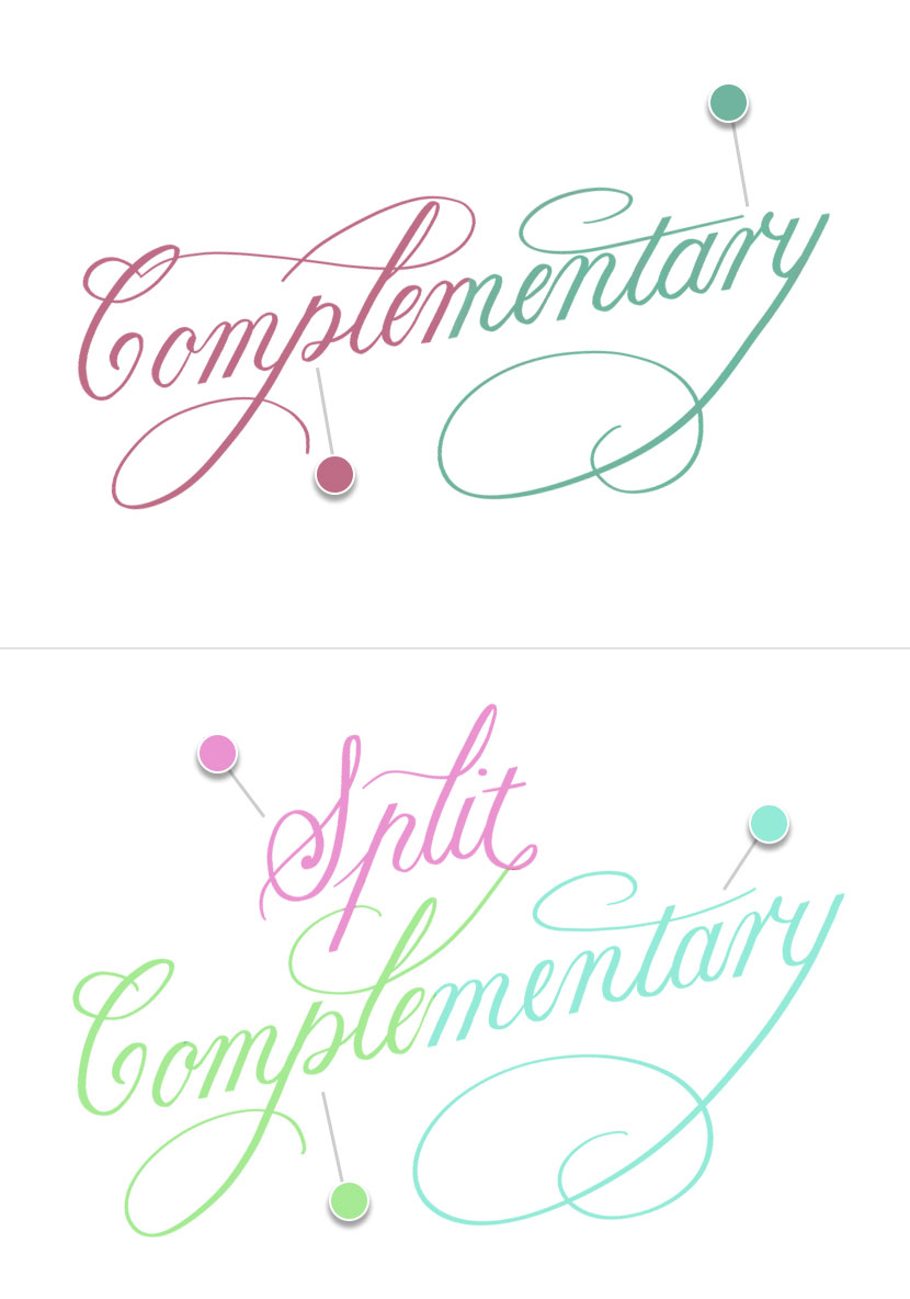 Color Harmony Procreate 5 - Complementary and Split Complementary