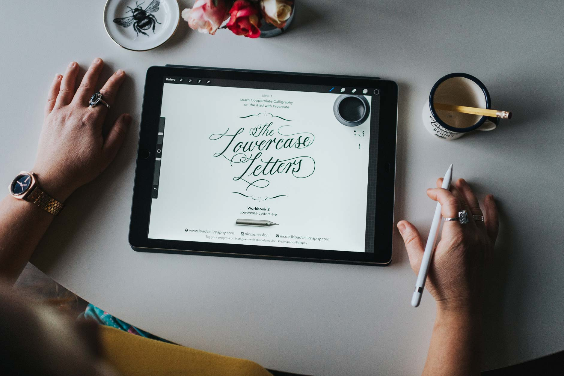 Learn Copperplate Calligraphy on the iPad course