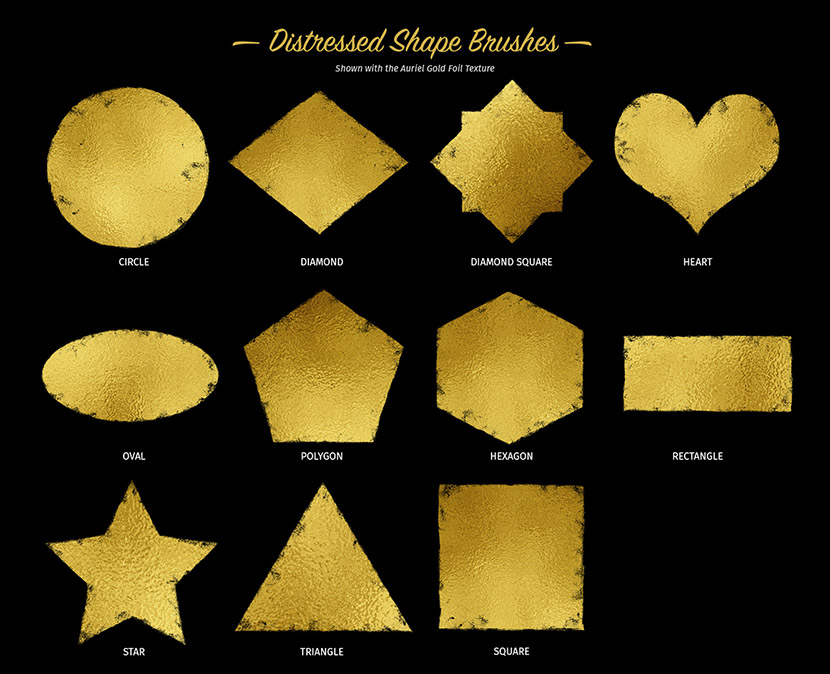 Glitter and Foil Kit for Affinity Designer - Shape Brushes