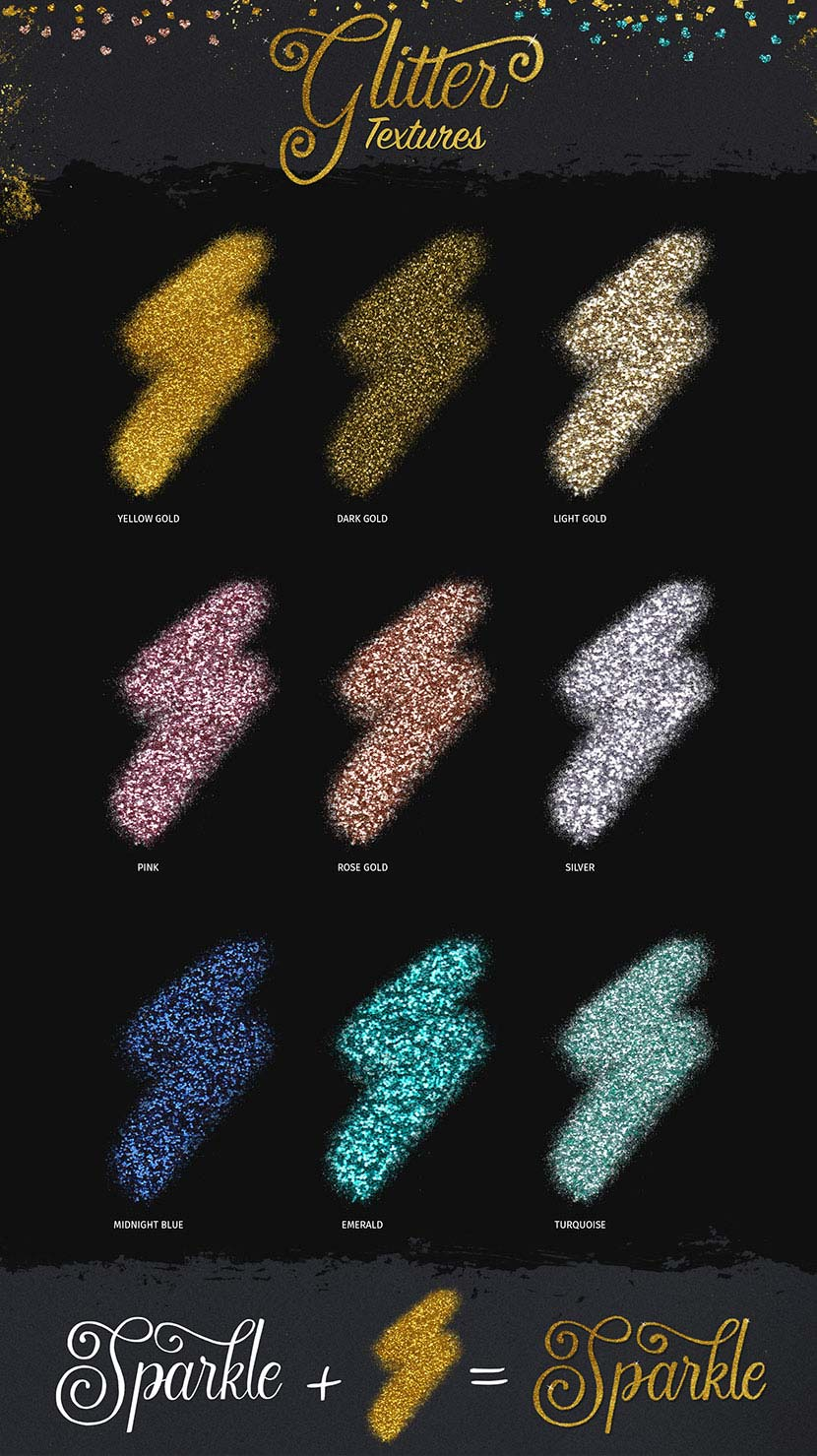Glitter and Foil Kit for Affinity Designer - Glitter Textures