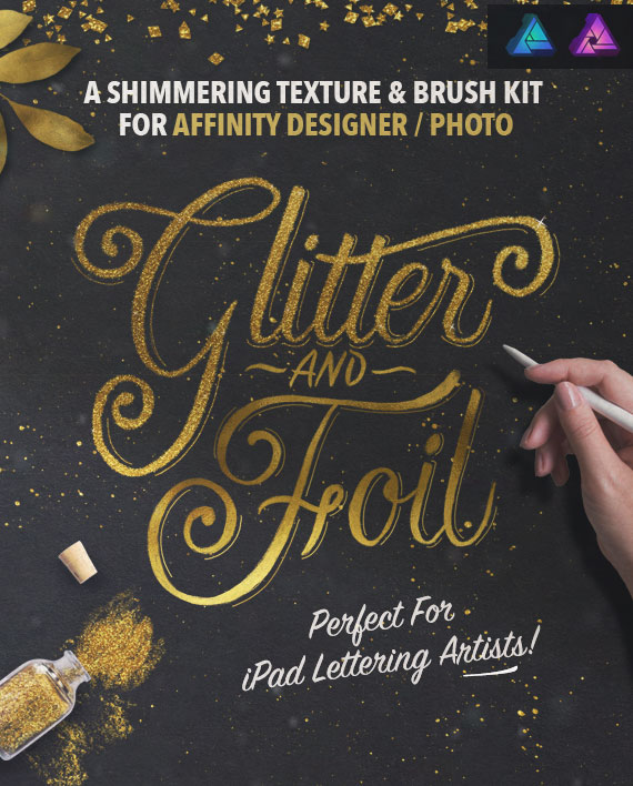 Glitter & Foil Kit for Affinity Designer