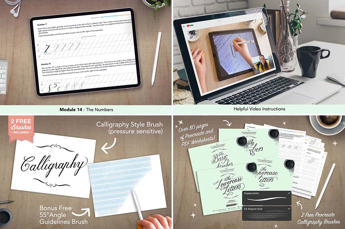 Copperplate Calligraphy with Procreate - Level 1&2 Bundle